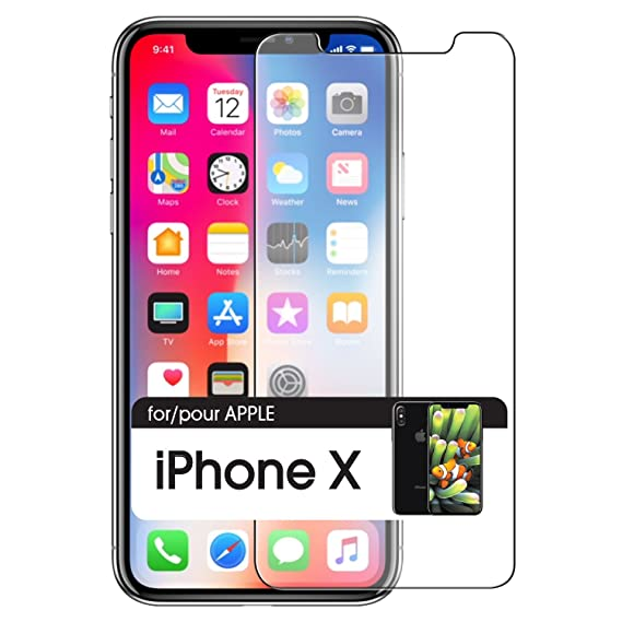 reputable site 9f66b 7814d Amazon.com: iPhone X 10 Screen Protector Tempered Glass 3D Full ...