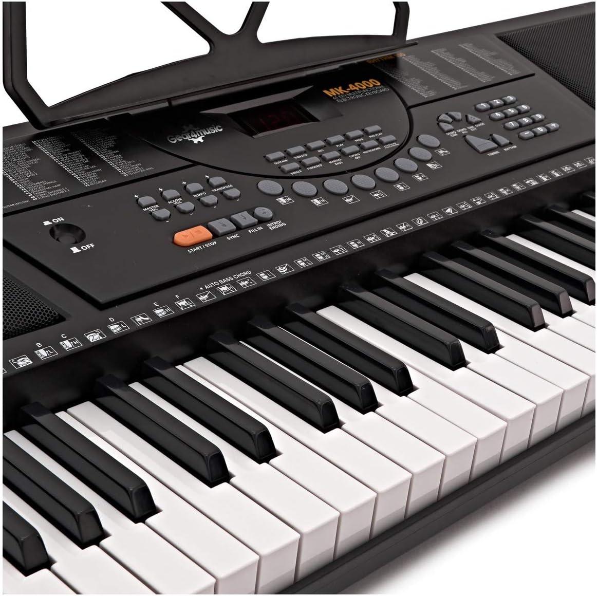 Teclado Portátil MK-4000 de 61 Teclas de Gear4music