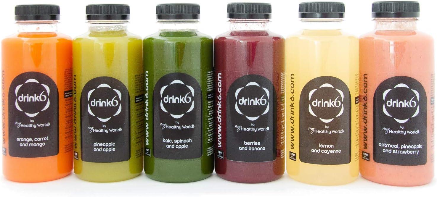 Plan detox zumos - 2 días - DRINK6: Amazon.es: Alimentación y bebidas