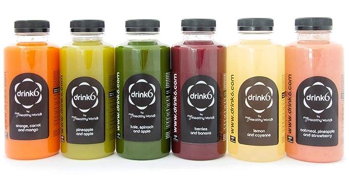 Plan detox zumos - 1 día - DRINK6: Amazon.es: Alimentación y bebidas