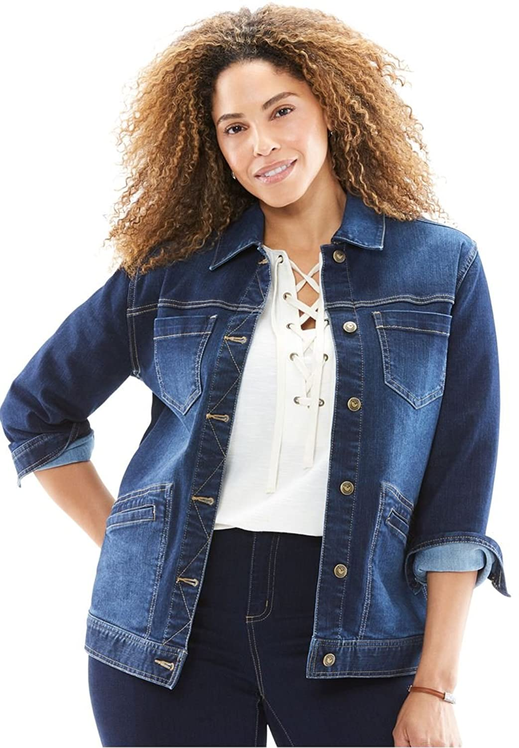 Women's Plus Size Denim Jacket