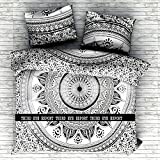 Third Eye Export NEW Ombrey Full Indian Medallion Queen Size Cotton Doona Duvet Cover Set Hippie Bohemian Mandala Blanket Quilt Cover Bedspread Bedding Comforter Cover With Pillow Covers