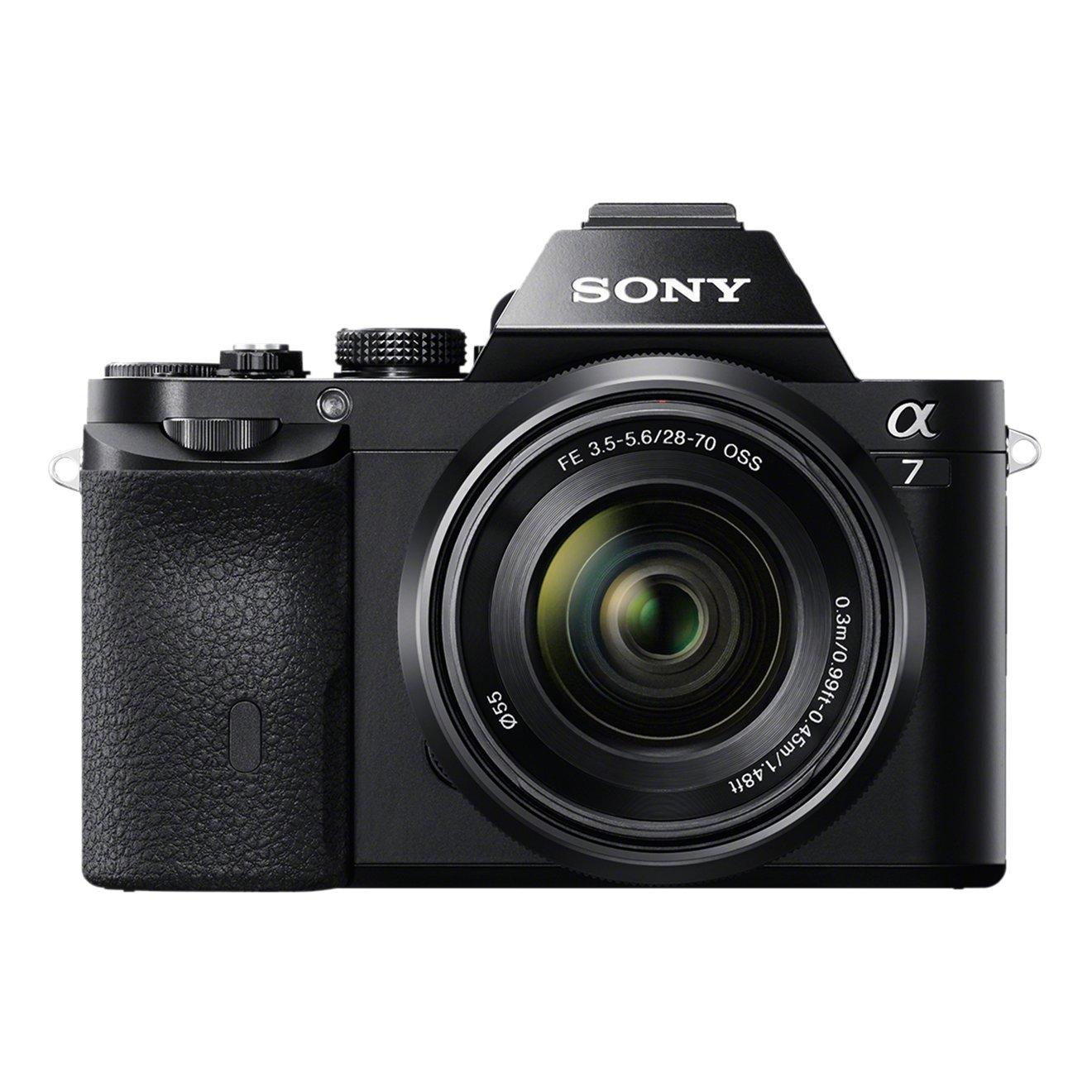 Sony Alpha 7K Kit Fotocamera Digitale Mirrorless Full-Frame con Obiettivo Intercambiabile SEL 28-70 mm, attacco Sony E-Mount, Sensore CMOS Exmor Full-Frame da 24.3 MP, Nero product image