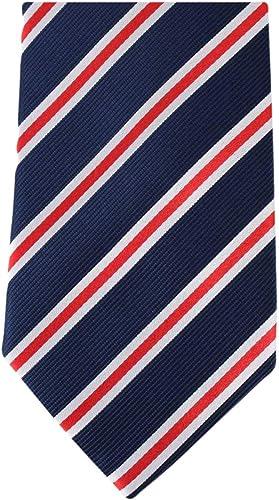 Azul marino Rojo / corbata / Blanco Regimiento de rayas de David ...