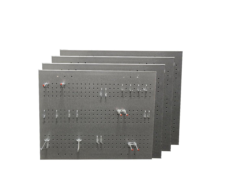 亜鉛メッキペグボード グレー 9-101020-4CT 4  B071XST7T2