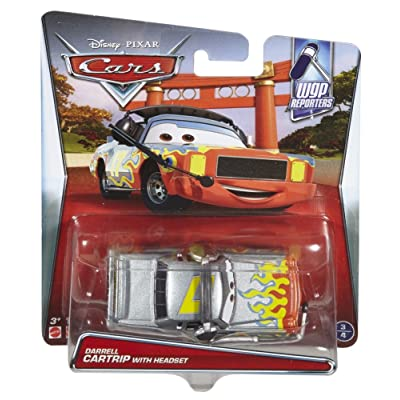 Disney Pixar Cars Darrell Cartrip with Headset Die-cast Vehicle: Toys & Games