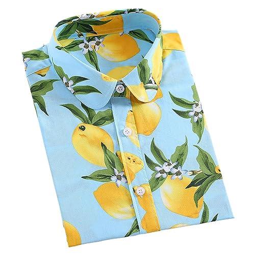 KINDOYO Mujer Camiseta Mangas Largas Blusa Elegante Casual Oficina