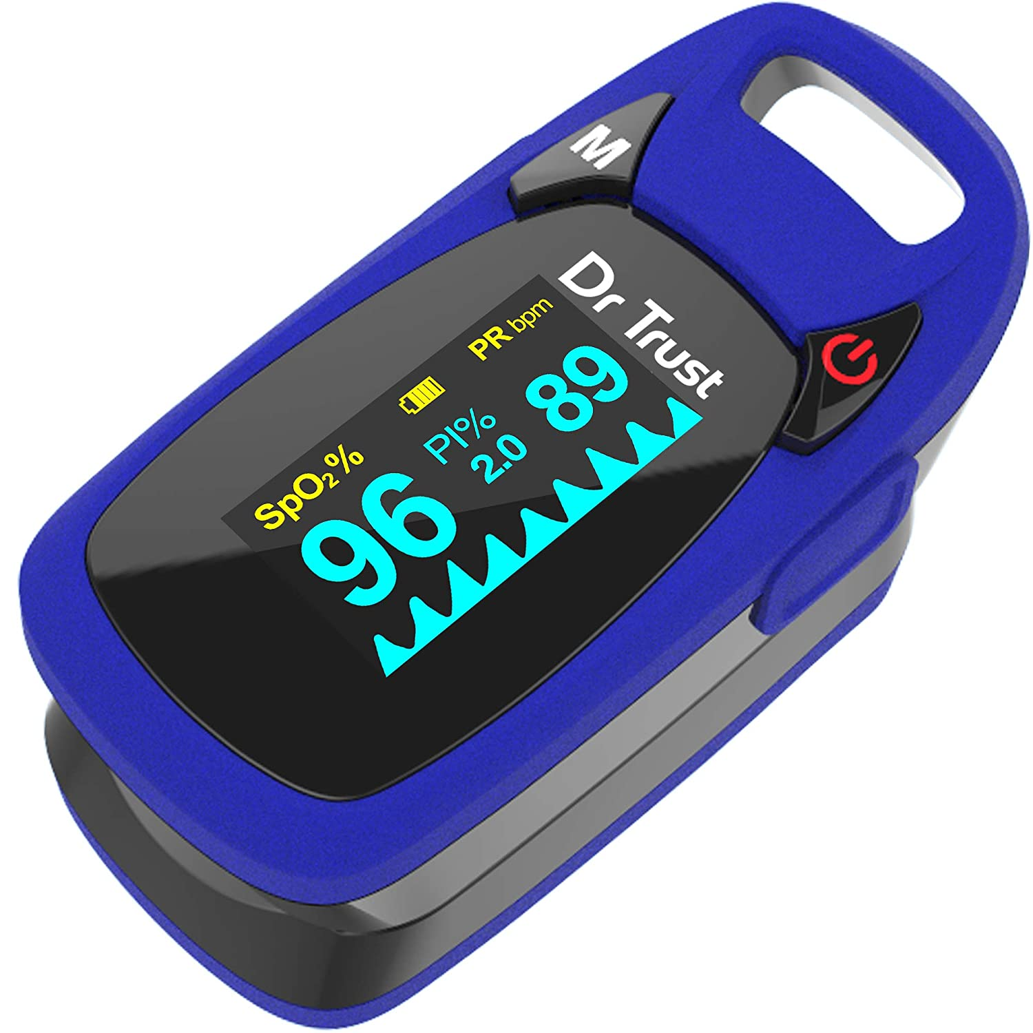 Dr Trust Professional Series Finger Tip Pulse Oximeter With Audio Visual Alarm and Respiratory Rate(Blue)