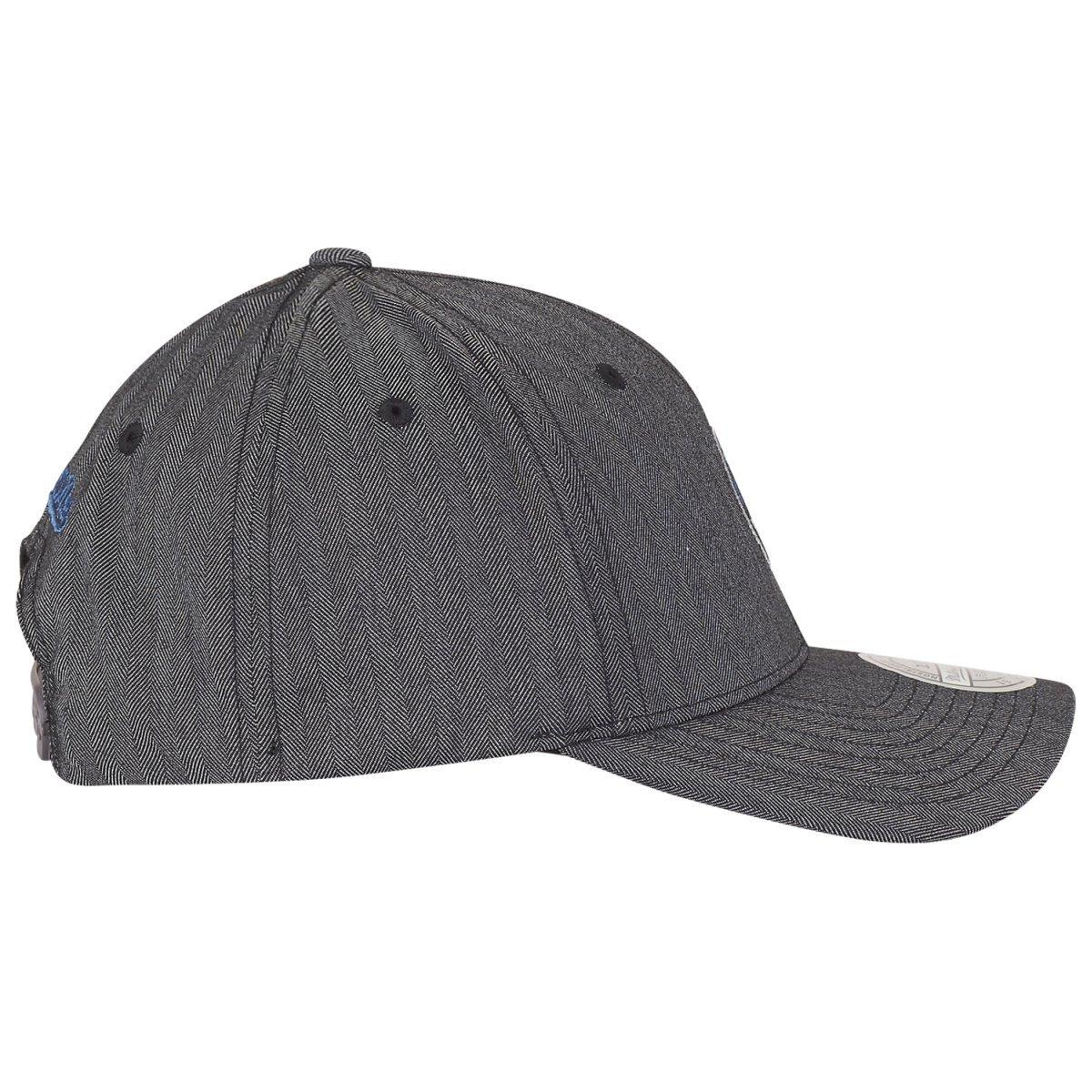 Mitchell /& Ness Snapback 110 Curved Poly Heringbone Brooklyn Nets charcoal