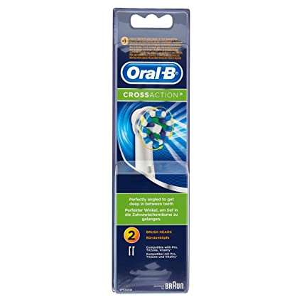 Oral-B Cross Action, Cabezales para Cepillo de Dientes, Pack de 2