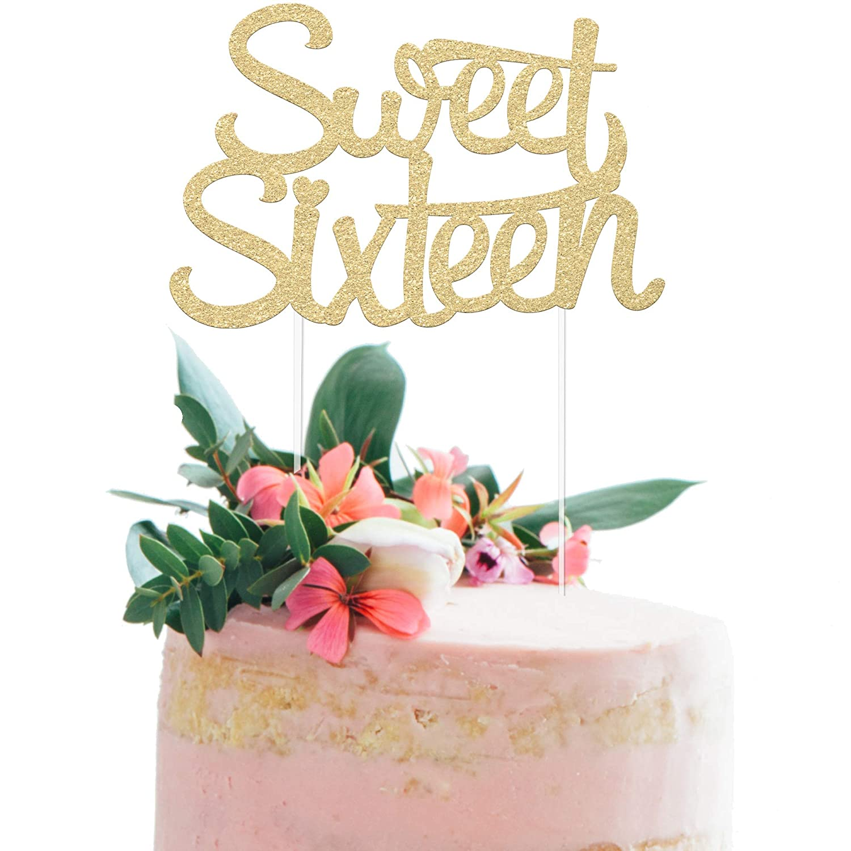 16th Birthday Cake Topper