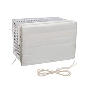 Blue Lotus Indoor Air Conditioner Cover | Premium Window Mounted Air Conditioner Cover | Double Insulation | Machine Washable | Reduce Heating Costs | Stop Cold Air Drafts | Lifetime Replacement