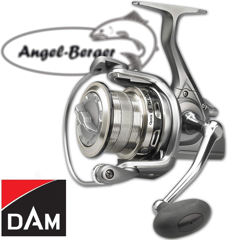 Angel-Berger Dam Quick 6 LC FD Meeresrolle Pilkrolle Brandungsrolle gratis Pro Line x-Treme Schnur