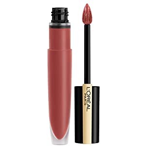 L'Oréal Paris Makeup Rouge Signature Parisian Sunset Collection, Lasting Matte Lip Stain, Ultra Lightweight & Comfortable, High Pigment, Precise Applicator Shapes & Lines Lips, I Lead, 0.23 oz.