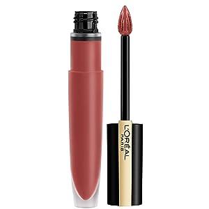 L'Oréal Paris Makeup Rouge Signature Parisian Sunset Collection, Lasting Matte Lip Stain, Ultra Lightweight & Comfortable, High Pigment, Precise Applicator Shapes & Lines Lips, I Lead, 0.23 oz.