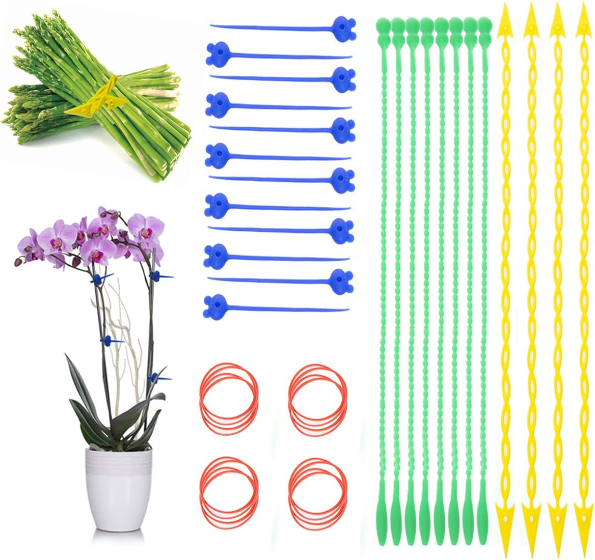Hot Headz Products (40 Piece) Chef Straps Silicone Cooking Twine For Turkey Chicken Reusable Food Ties