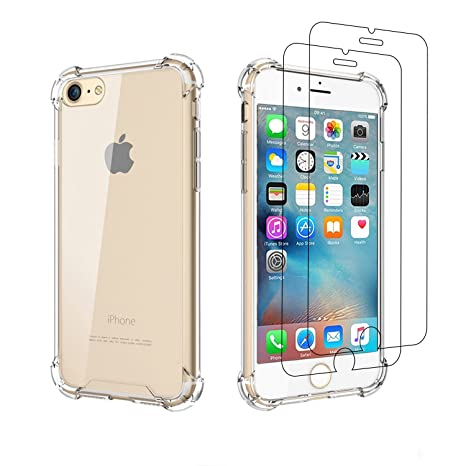 Carcasa iPhone 6/6S/6 Plus/6S Plus Funda Funda Silicona + 2 ...