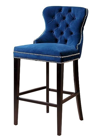 navy blue bar stools Amazon.com: Abbyson Versailles Tufted Barstool, Navy Blue: Kitchen  navy blue bar stools