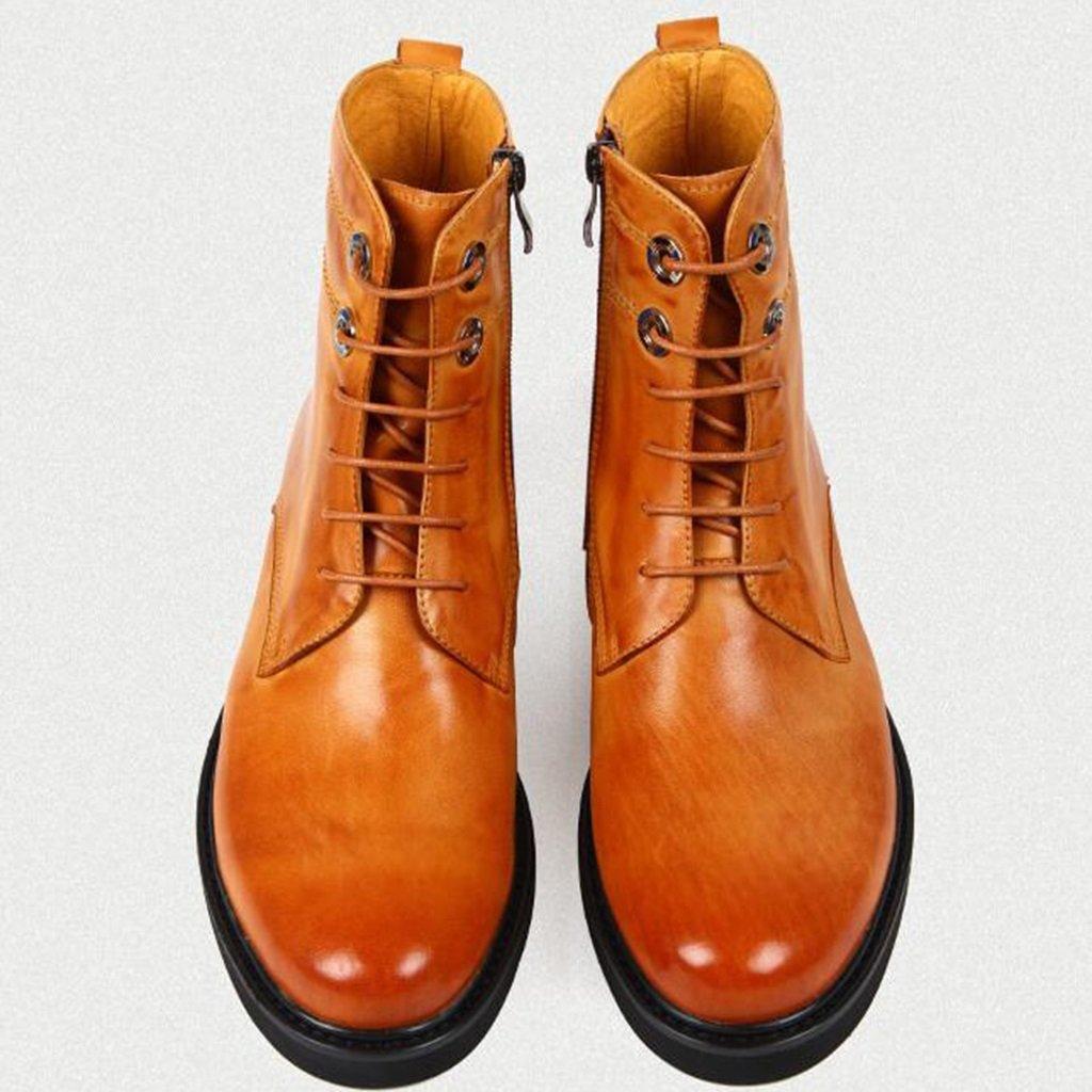 Herren Lederschuhe Lederschuhe Lederschuhe Herren Lederstiefel Tide Schuhe Kurze Martin Stiefel British Style Army Tooling Stiefel Herrenschuhe (Farbe   Braun, größe   EU 41 UK7) d73469