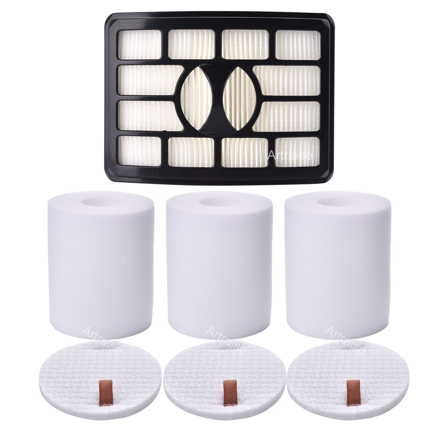 3 Pack Filters for Shark Rotator Pro Lift-away NV500, NV501, NV502, NV503, NV505, NV510, NV520, NV552, UV560, Xff500 Xhf500 (Not Fits NV650,NV680,NV750 Series) By Artraise by Artraise