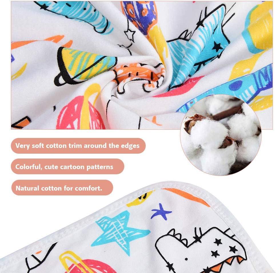 Serviette /à Capuchon B/éb/é Gigoteuse dEmmaillotage en Coton Couverture D/ébarbouillette Serviette de Bain Cadeau pour Une Naissance Crayon Doodles