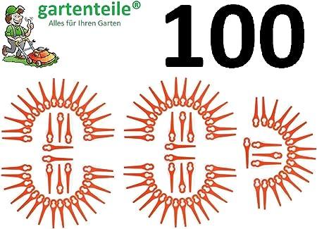 100 Kunststoffmesser passend für Einhell Akku Rasentrimmer BG RG GE CT 18 Li