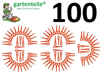100 Cuchilla de repuesto apto para IKRA Hurricane hati 18 Li ...