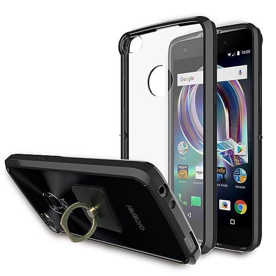 Alcatel Idol 5 6060C Case,Alcatel Nitro 5 Clear Case With Phone  Stand,Ymhxcy [Air Hybrid] Ultra Slim Shockproof Bumper Cover For Alcatel  Idol 5 6060C