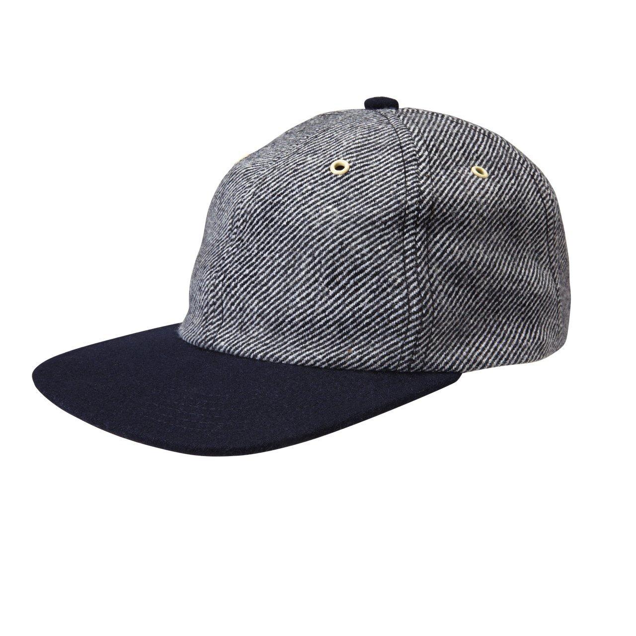 Gents Premium Taylor Soft Crown Twill Stripe Flat Brim Baseball Cap ... 737d5a143bf