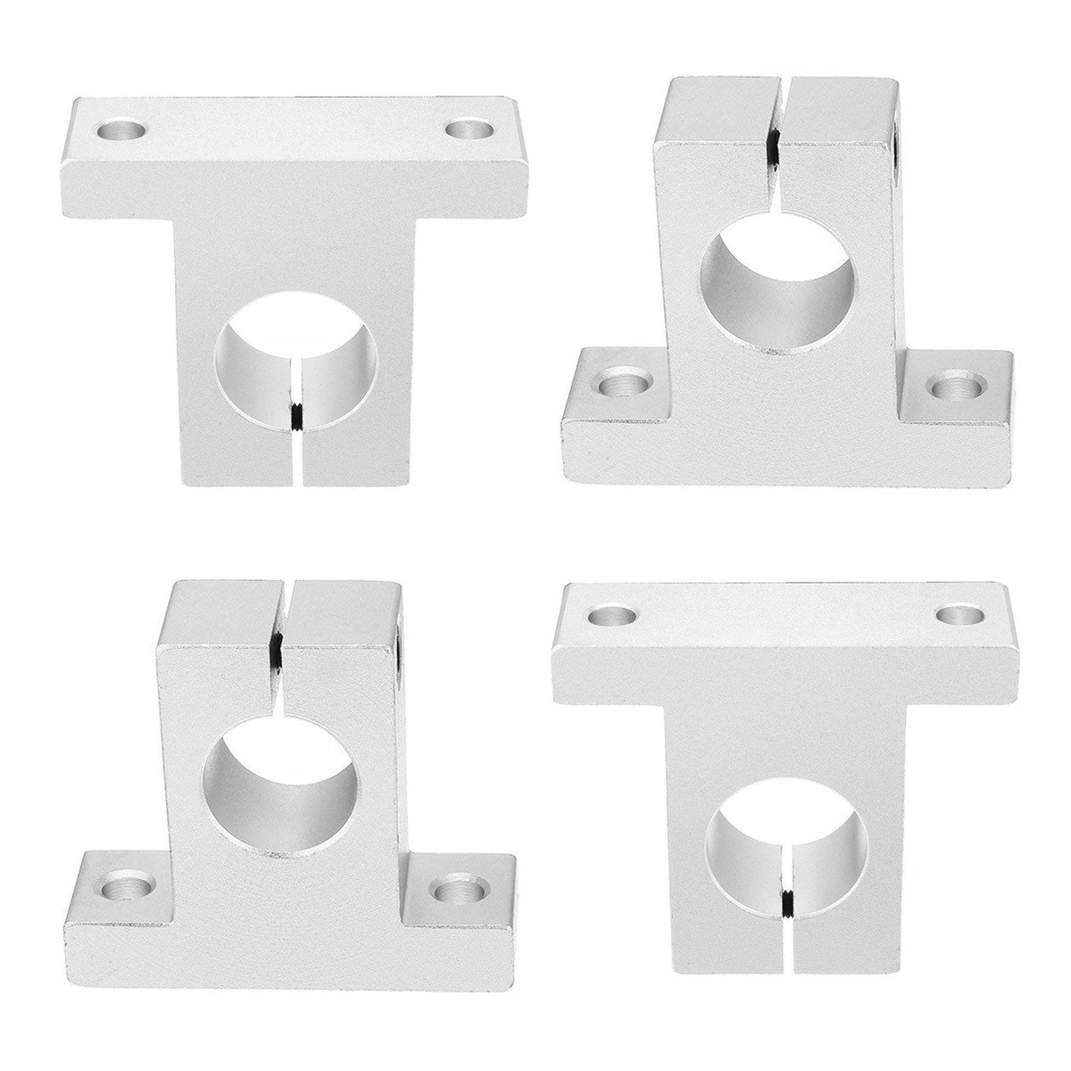 SamIdea Pack of 4,SK20 Aluminum Linear Motion Rail Clamping Guide Support for 20mm Dia Shaft