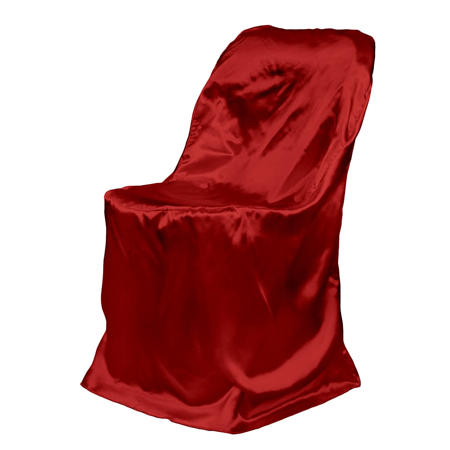 Amazon LinenTablecloth Satin Folding Chair Cover Gold Home