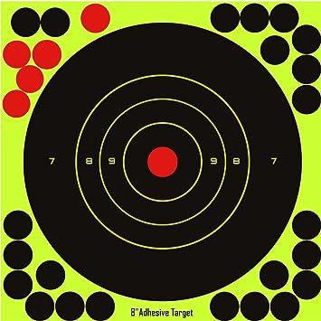 25Pack  4/'/' Circle Bullseye Splatter and Sefl Adhesive shooting Target Paper