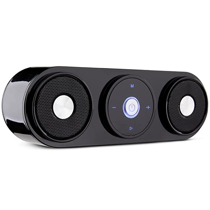 Review Bluetooth Speakers, ZENBRE Z3 10W Wireless Computer Speakers with 20h Playtime, Portable Speaker with Dual-Driver Enhanced Bass Resonator (Black)