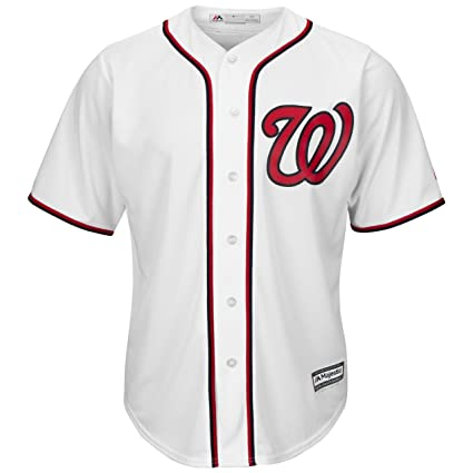 408f04d08 Amazon.com   Washington Nationals Home White Cool Base Replica Jersey by  Majestic Select Size  Large   Sports   Outdoors