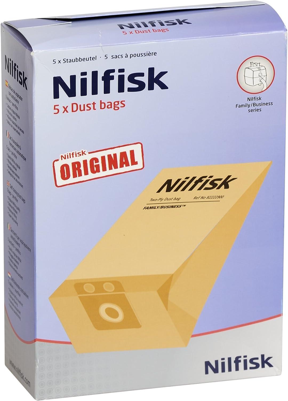 Nilfisk 82222900 - Juego de 5 bolsas para aspirador: Amazon.es: Hogar