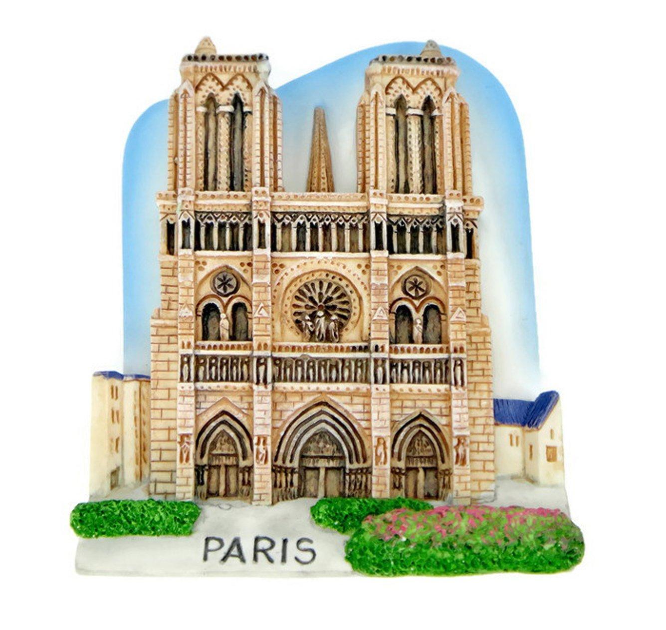 Imanes de nevera recuerdos Notre Dame de Paris hecho a mano ...