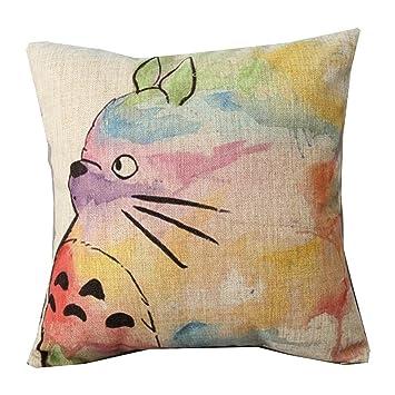 Throw Pillow Cover ker Cotton Linen Square Decorative Throw