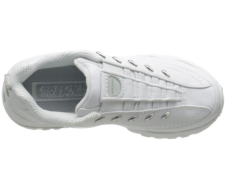 Skechers Women's D'Lites Memory Foam Lace-up Sneaker B07B8DLGWS 8.5 B(M) US|Premium - Premix White
