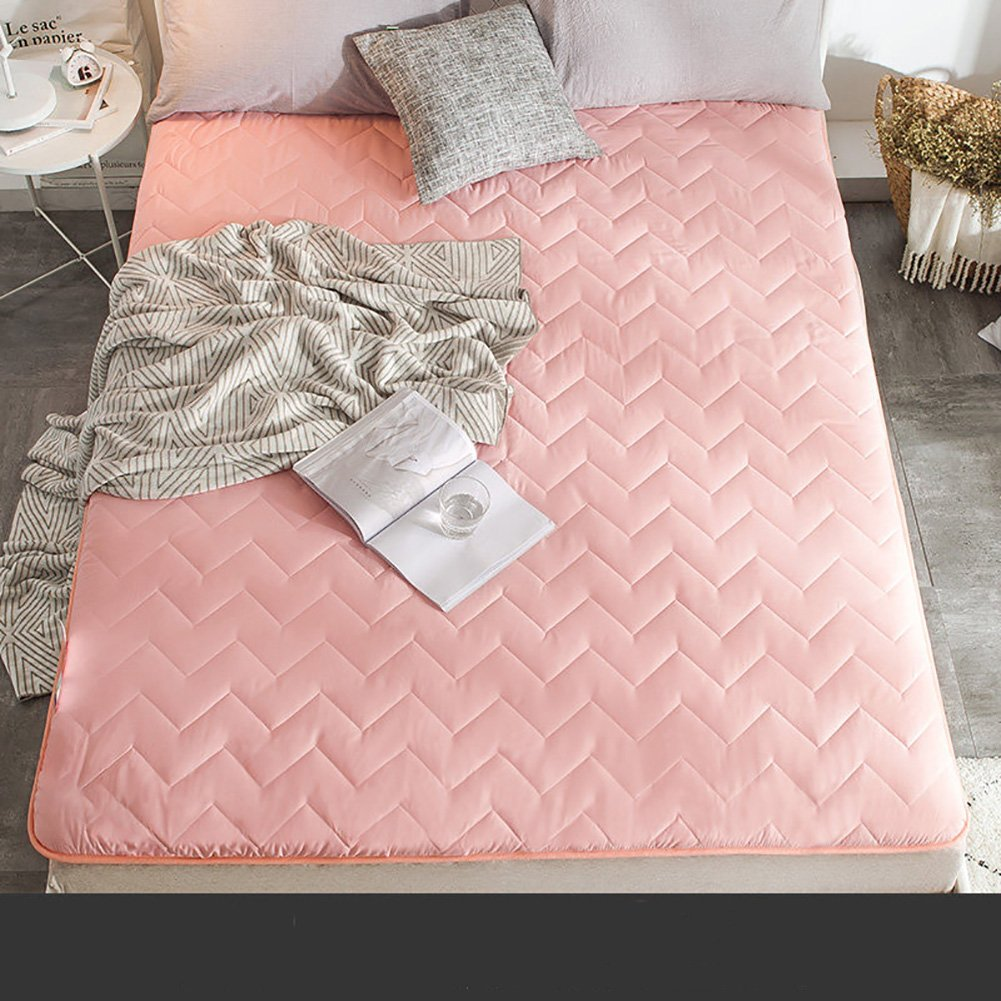 HYXL Flannel Plush Thick Tatami floor mattress,Soft mattress topper Overfilled mattress pad Chemical-free anti-mite fabric-E 120x200cm(47x79inch)