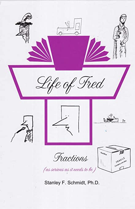 Life of Fred Set # 1, 4-Book Set : Fractions, Decimals, Pre-Algebra 1 with  Biology, and Pre-Algebra 2