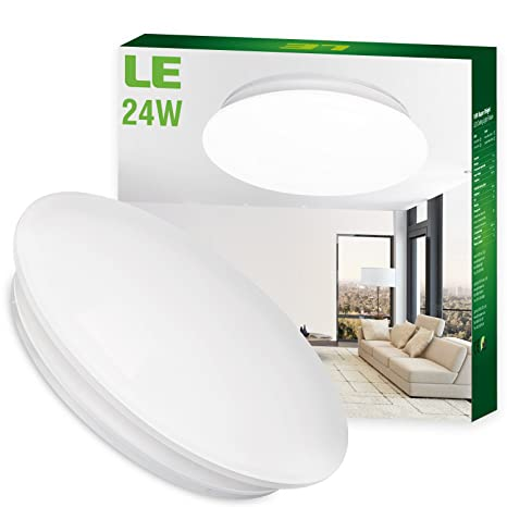 LE 24W 16-Inch Daylight White LED Ceiling Lights, 180W Incandescent ...