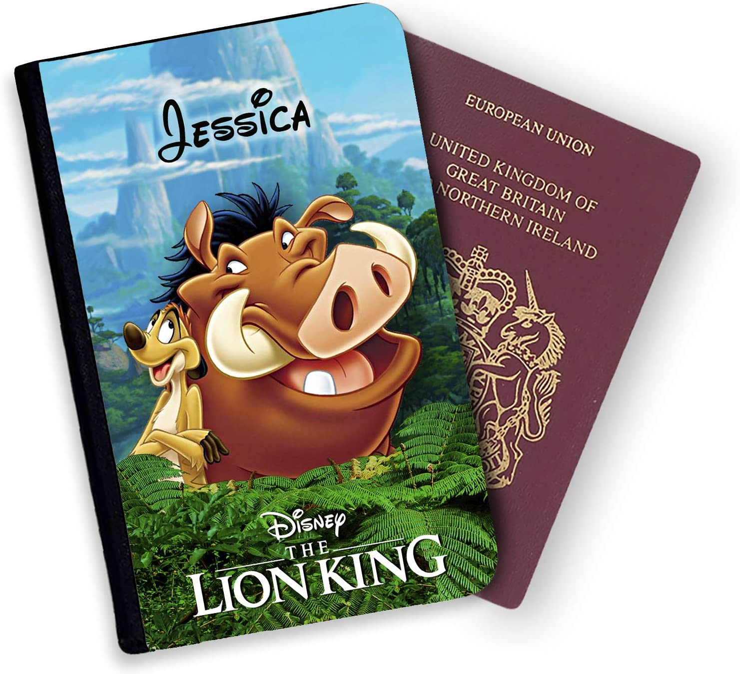 Porte-Passeport et /étiquette de Bagage Personnalisable Disney Le Roi Lion Multicolore Multicolore Luggage Tag