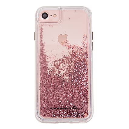 big sale 0d8a1 593d1 Case-Mate iPhone 8 Case - WATERFALL - Cascading Liquid Glitter - Protective  Design for Apple iPhone 8 - Rose Gold