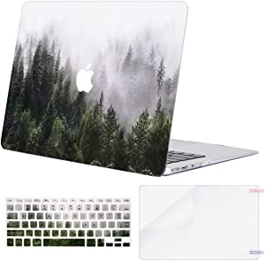 MOSISO MacBook Air 11 inch Case (Models: A1370 & A1465), Plastic Pattern Hard Shell Case & Keyboard Cover & Screen Protector Compatible with MacBook Air 11 inch, Green Forest