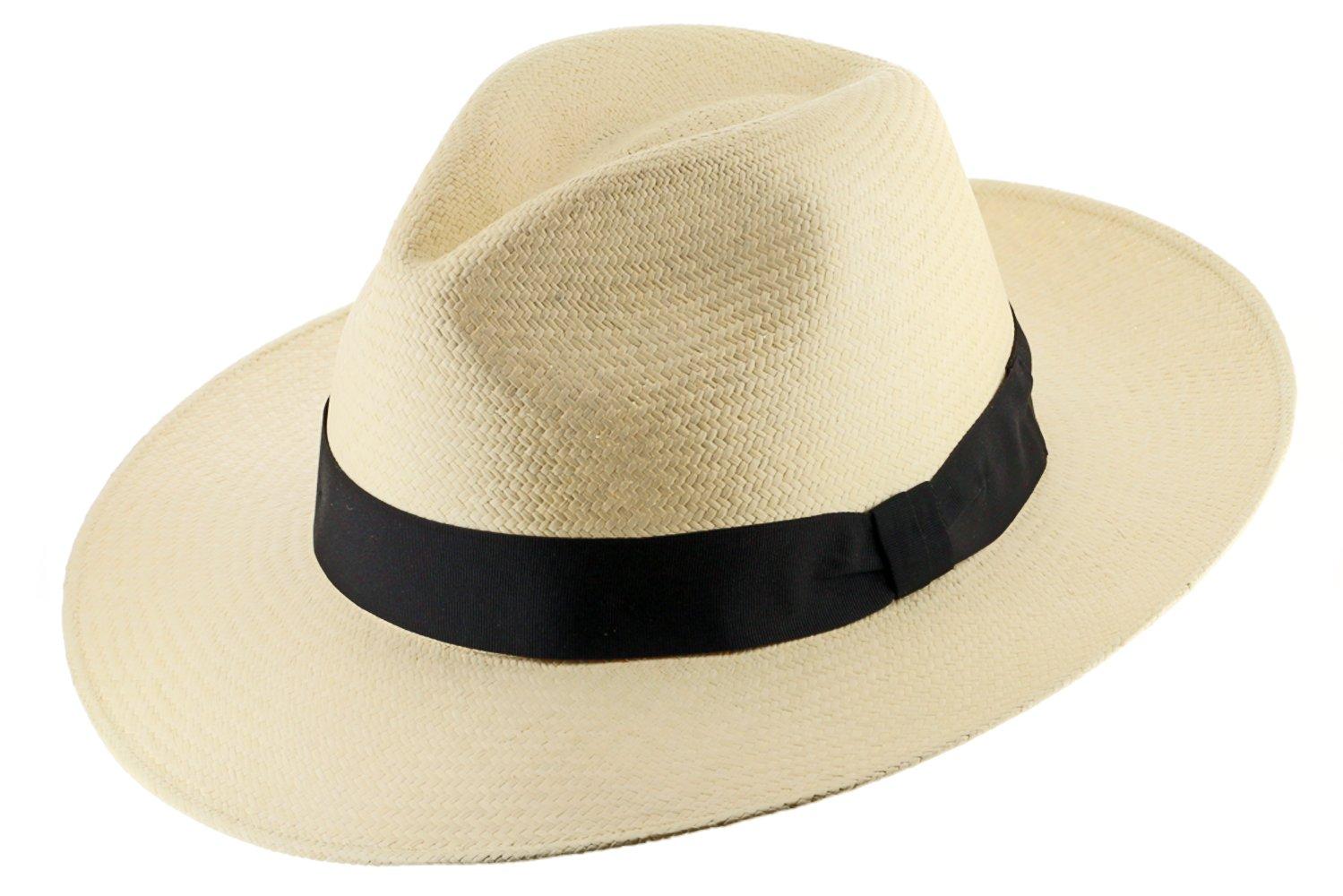 GATSBY FEDORA Panama Hat NATURAL STRAW Stylish SZ 7 1/4