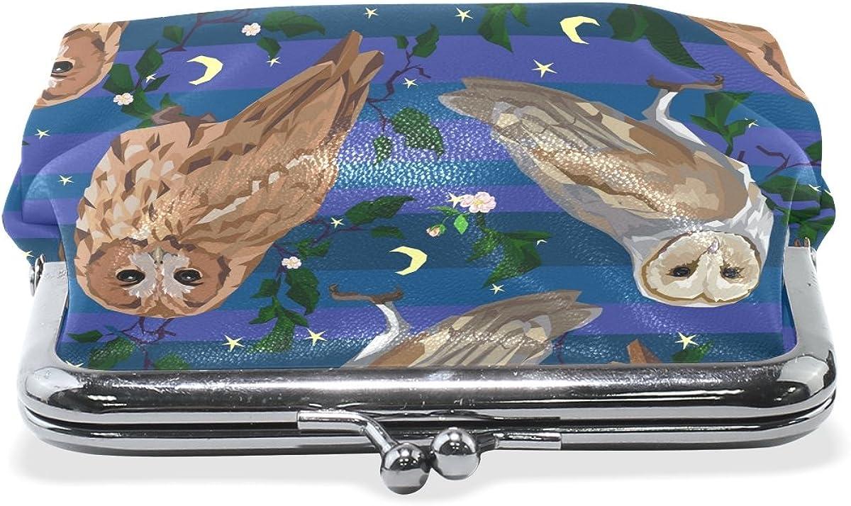 Sunlome Owls Set Coin Purse Change Cash Bag Small Purse Wallets for Women Girl