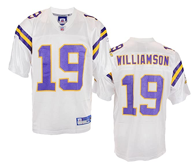 finest selection ab364 fef9a Minnesota Vikings Mens NFL Retro Replica Football Jersey Troy Williamson  White