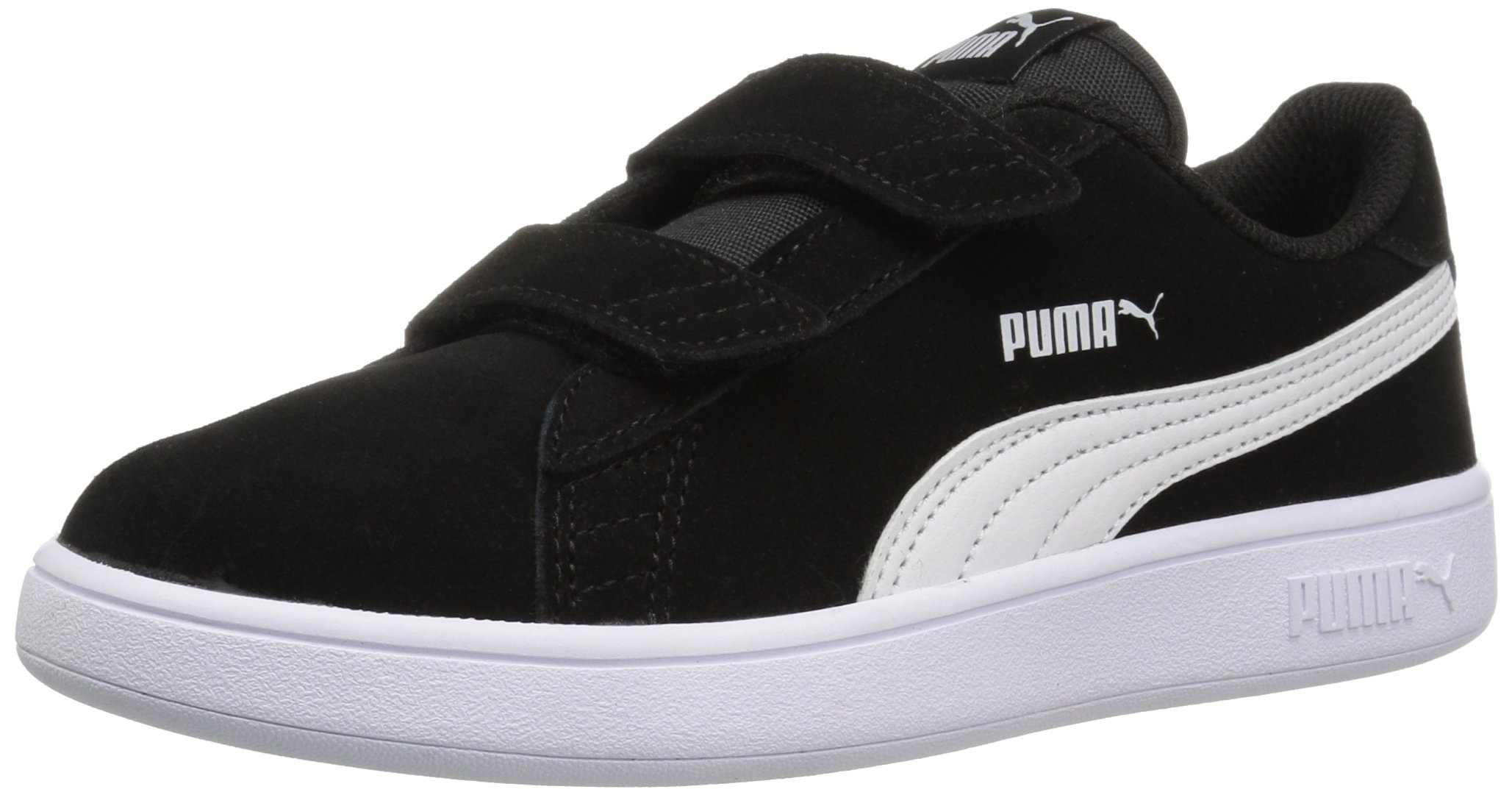 pretty nice e4ef9 d5ff3 PUMA Smash v2 Suede Preschool Sneakers (Puma Black/Puma White)(3 M US  Little Kid)