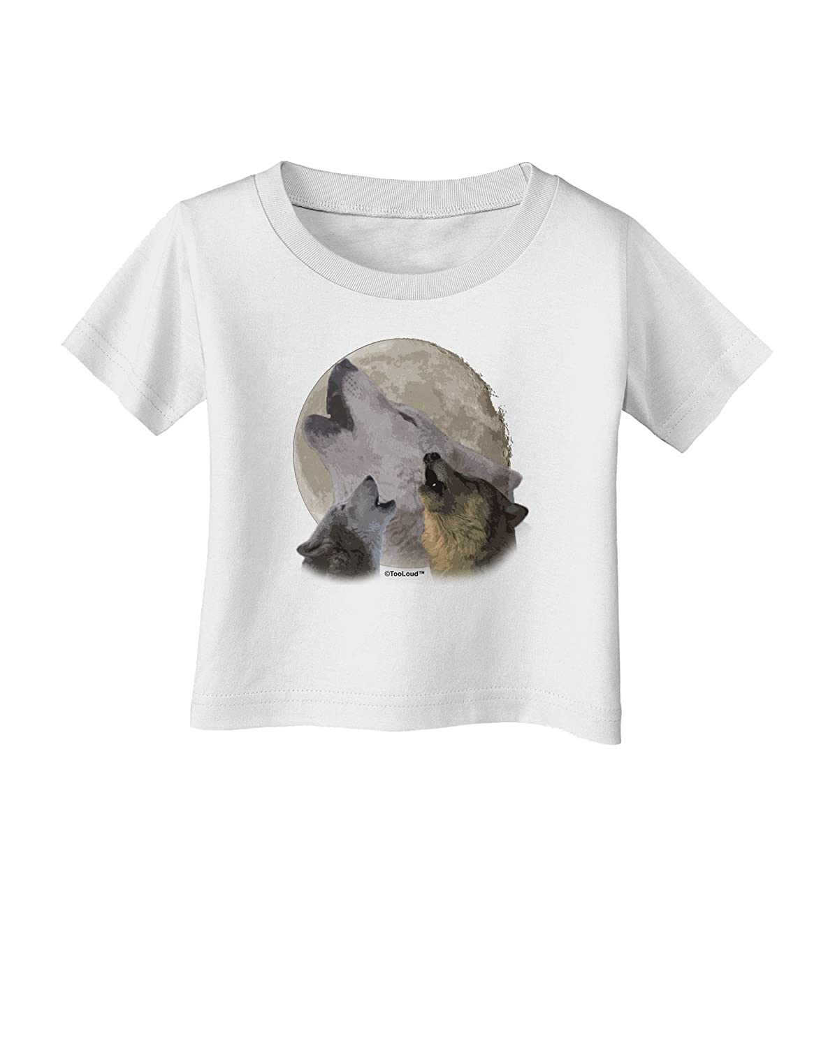 TooLoud Three Wolves Howling at the Moon Infant T-Shirt