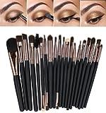 CINEEN 20 Stück Professional Makeup Pinsel set Augenbrauen Wimpern Lidschatten Lidstrich Lippenpinsel Pulverlack Foundation